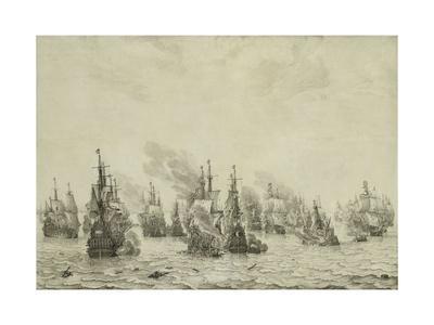 The Battle of Livorno or Leghorn, C.1659-99
