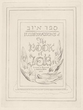 Title Page from Illustrations of the Book of Job, 1825