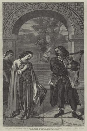 Courtesy, Sir Tristram Harping to La Belle Isoude