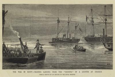The War in Egypt, Marines Landing from the Rhosina in a Lighter at Ismailia