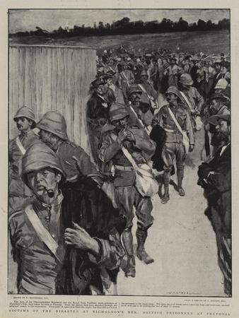 Victims of the Disaster at Nicholson's Nek, British Prisoners at Pretoria