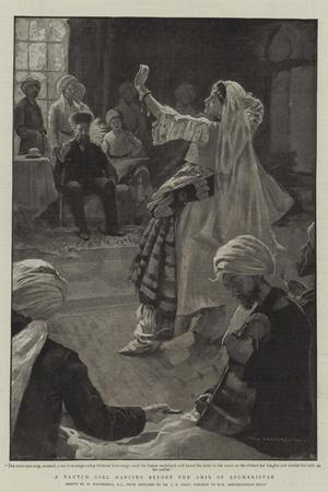A Nautch Girl Dancing before the Amir of Afghanistan