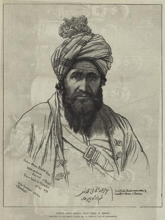 Sirdar Abdul Khalik Khan, Chief of Bezoot