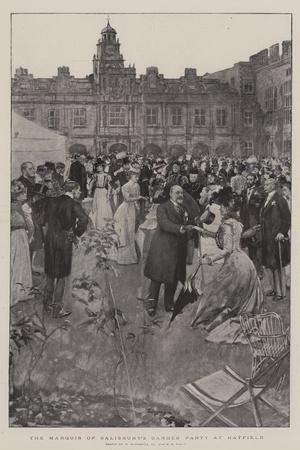 The Marquis of Salisbury's Garden Party at Hatfield