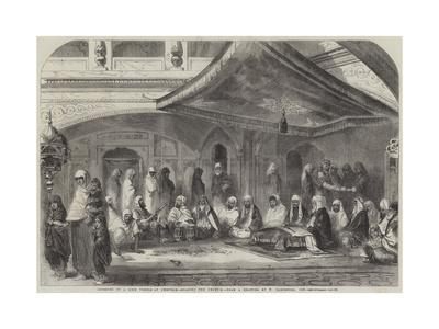 Interior of a Sikh Temple at Umritzir, Reading the Grunt'H