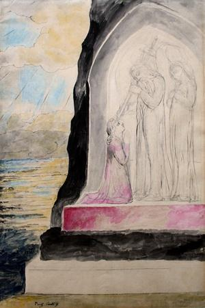 The Angel with the Sword Marking Dante with the Sevenfold' from 'Purgatorio'