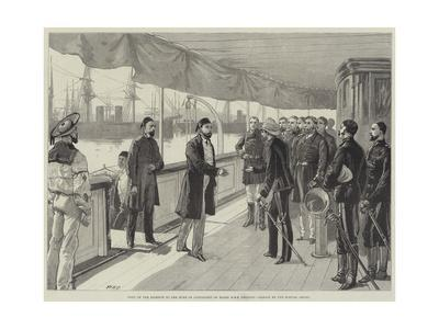 Visit of the Khedive to the Duke of Connaught on Board HMS Helicon