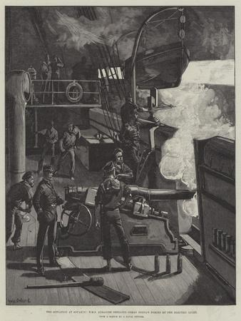 The Situation at Souakim, HMS Albacore Shelling Osman Digna's Forces by the Electric Light