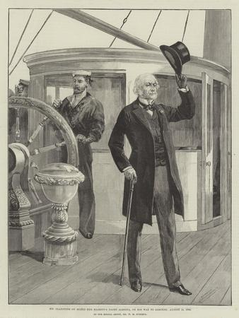 Mr Gladstone on Board Her Majesty's Yacht Alberta, on His Way to Osborne, 15 August 1892
