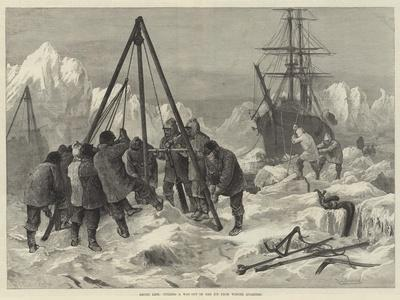 Arctic Life, Cutting a Way Out of the Ice from Winter Quarters