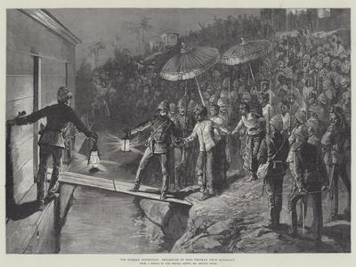 The Burmah Expedition, Departure of King Theebaw from Mandalay