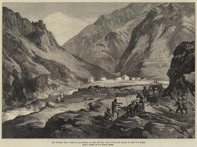 The Afghan War, Pass of Ali Musjid, in the Khyber, with Advanced Guard of the 14th Sikhs