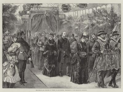 The Prince and Princess of Wales at Manchester, Procession in the Exhibition Building
