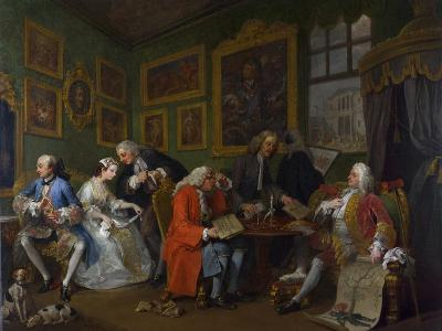 Marriage a La Mode: I - the Marriage Settlement, C.1743