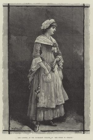 Mrs Langtry, at the Haymarket Theatre, in She Stoops to Conquer