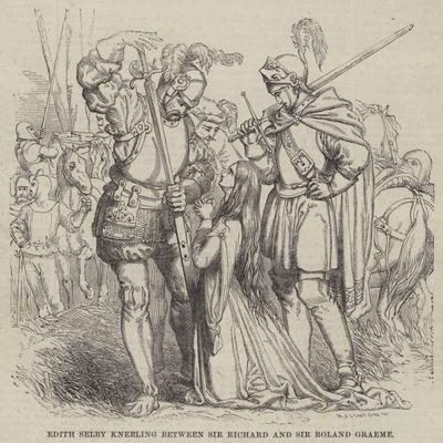Edith Selby Kneeling Between Sir Richard and Sir Roland Graeme