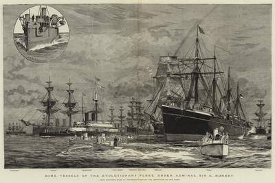 Some Vessels of the Evolutionary Fleet, under Admiral Sir G Hornby