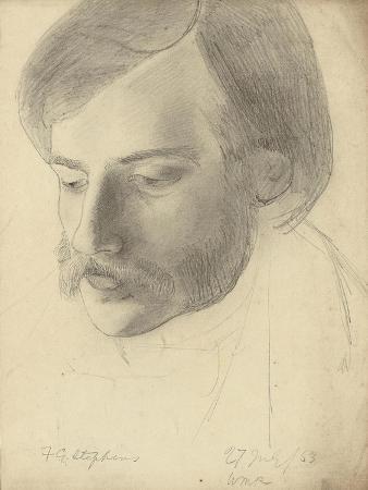Portrait of Frederick George Stephens, 1853