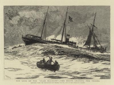 The Loss of the Clan Macduff, the Boats Leaving the Vessel