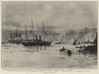 Queen Victoria's Last Sea Journey, the Royal Yacht Alberta, Steaming into Portsmouth Harbour