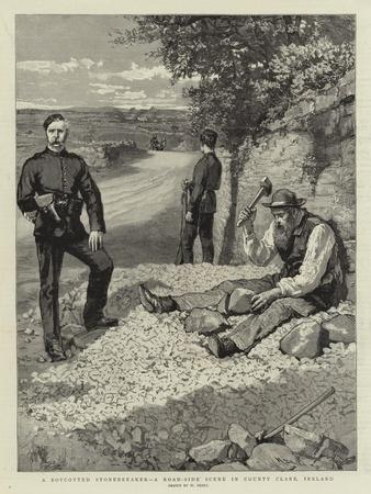 A Boycotted Stonebreaker, a Road-Side Scene in County Clare, Ireland