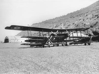 A Handley-Page 0/400 Aircraft with Some Bristol Fighter Machines at the Aerodrome of the Australian
