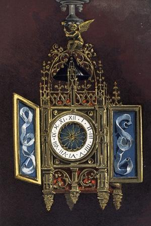 16th Century Clock from Painting Jesus Christ in House of Simon Pharisee by Jan Gossaert from Dicti