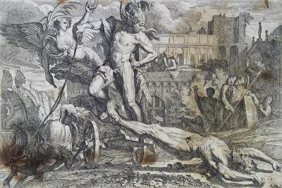 Achilles Dragging Hector's Body around Walls of Troy