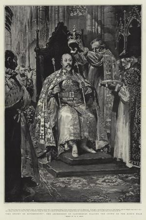 The Ensign of Sovereignty, the Archbishop of Canterbury Placing the Crown on the King's Head