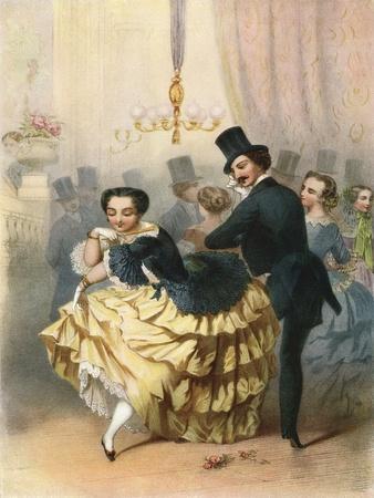 Ballroom Scene in the 19th Century. from Illustrierte Sittengeschichte Vom Mittelalter Bis Zur Gege