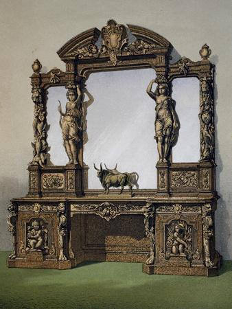Carved Oak Cabinet from Masterpieces of Industrial Art and Sculpture at International Exhibition
