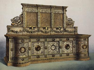 Carved Oak Sideboard from Masterpieces of Industrial Art and Sculpture at International Exhibition