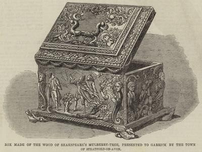 Box Made of the Wood of Shakespeare's Mulberry-Tree