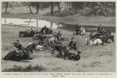 Cavalry Sports by the Eighth (King's Royal Irish) Hussars before the Duke and Duchess of Connaught