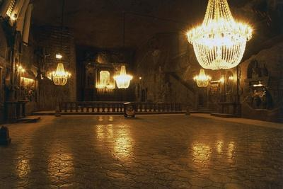 Chapel of St Kinga in Cathedral Carved Out of Rock Salt in Wieliczka Salt Mine (Unesco World Herita