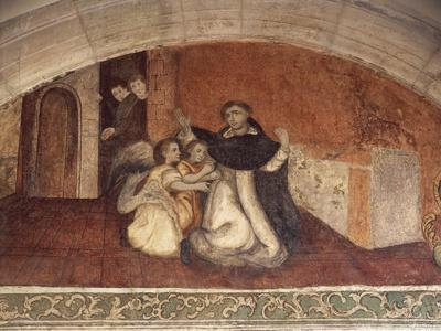 Close-Up of a Mural on the Wall of a Church