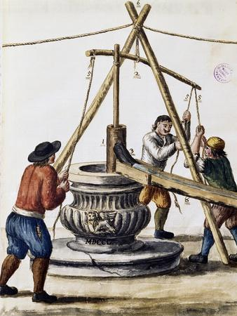Digging Well from Illustrated Book of Venetian Costumes