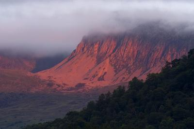Cloud-Topped Cader Idris Massif in Fiery Red Sunset