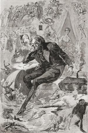 David Copperfield. Illustration by Harry Furniss for the Charles Dickens Novel David Copperfield