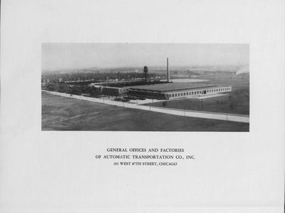 General Offices and Factories of the Automatic Transportation Company Incorporated in Chicago