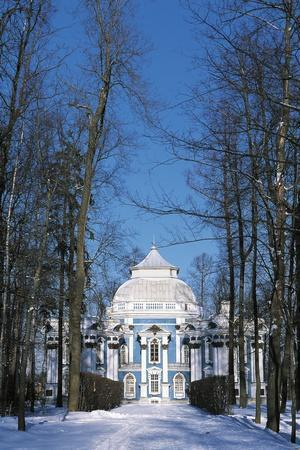 Hermitage Pavilion in Snow