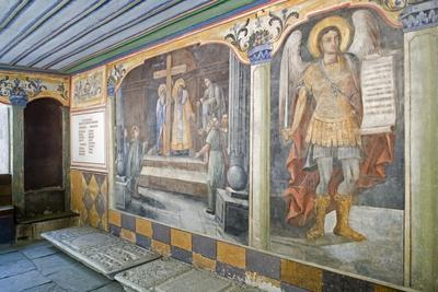 Frescoes in Church of St Constantine and Helena