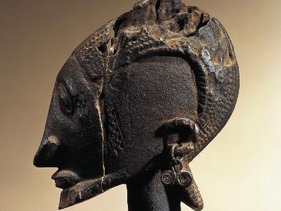 Head of Wood and Metal Sculpture