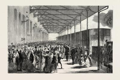 Franco-Prussian War: Reception of the Royal Prince of Prussia on the Railway Station of Leipzig Jul