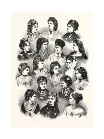 Heads of the Fair Sex. Hair
