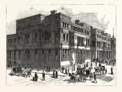 Glimpses of the Architectural Progress of New York City. the Vanderbilt Palaces on Fifth Avenue