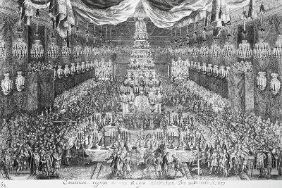 Great Banquet with Musicians at Royal Palace on Occasion of Coronation of Charles XI in 1672