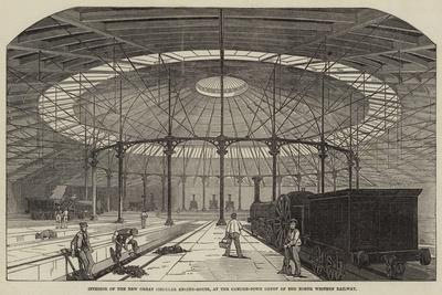 Interior of the New Great Circular Engine-House