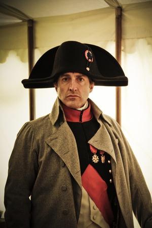 Historical Reenactment: Napoleon Bonaparte in His Field Tent at Waterloo