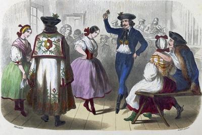 Hungarian Dancers. Dancer